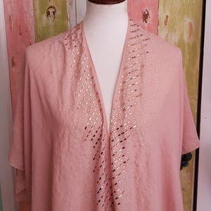 Shabby chic jeweled shawl